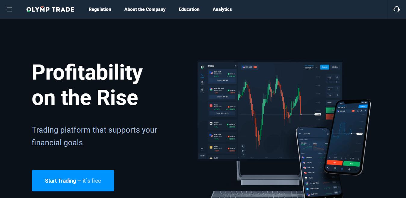 Olymp Trade Homepage