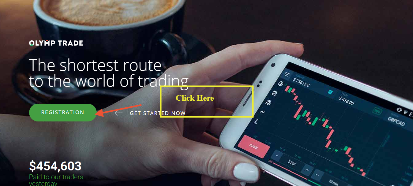 Olymp Trade Home Page