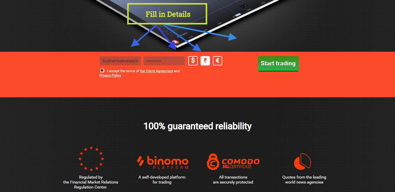 Hướng dẫn đăng ký Tài khoản BINOMO từng bước bằng hình ảnh 18