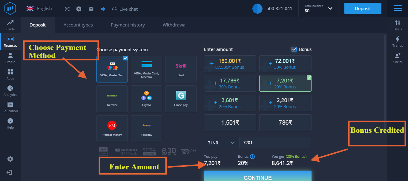 How to Deposit in Expert Option?